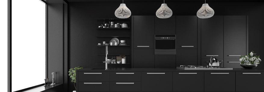 moderne combi-magnetron in keuken